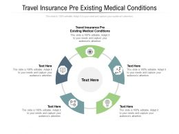 Travel Insurance Pre Existing Medical Conditions Ppt Powerpoint Presentation Professional Picture Cpb