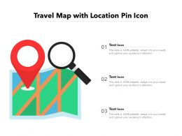 Travel Map With Location Pin Icon
