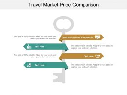 Travel Market Price Comparison Ppt Powerpoint Presentation Show Themes Cpb