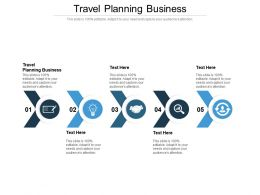 Travel Planning Business Ppt Powerpoint Presentation File Samples Cpb