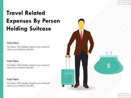Travel Related Expenses By Person Holding Suitcase