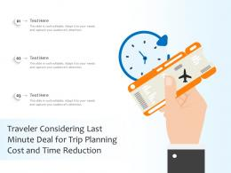 Traveler Considering Last Minute Deal For Trip Planning Cost And Time Reduction