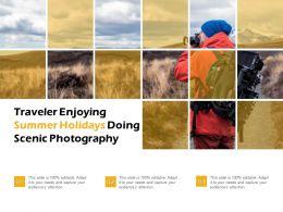Traveler Enjoying Summer Holidays Doing Scenic Photography