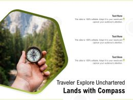 Traveler Explore Unchartered Lands With Compass
