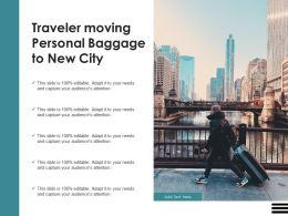 Traveler Moving Personal Baggage To New City