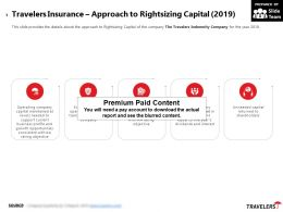 Travelers Insurance Approach To Rightsizing Capital 2019