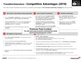 Travelers Insurance Competitive Advantages 2018