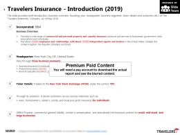 Travelers Insurance Introduction 2019