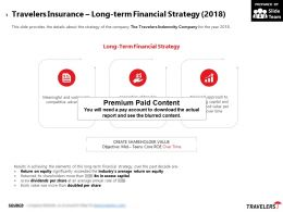 Travelers Insurance Long Term Financial Strategy 2018