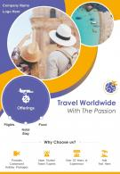Traveling The World Two Page Brochure Template