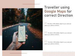 Traveller Using Google Maps For Correct Direction