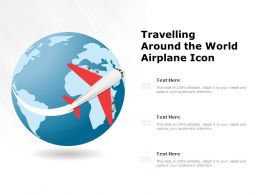 Travelling Around The World Airplane Icon