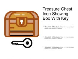 Treasure Chest Icon Showing Box With Key