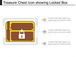 Treasure Chest Icon Showing Locked Box