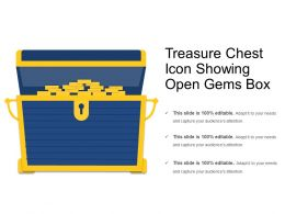 Treasure Chest Icon Showing Open Gems Box
