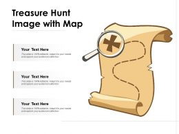 Treasure Hunt Image With Map