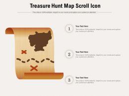 Treasure Hunt Map Scroll Icon