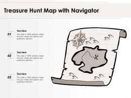 Treasure Hunt Map With Navigator