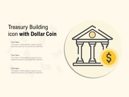 Treasury Building Icon With Dollar Coin