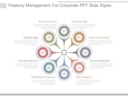 Treasury Management For Corporate Ppt Slide Styles