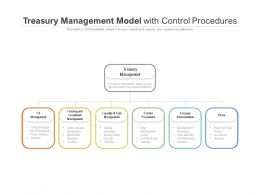 Treasury Management Model With Control Procedures