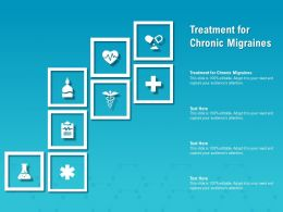 Treatment For Chronic Migraines Ppt Powerpoint Presentation Show Structure