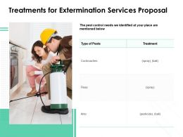Treatments For Extermination Services Proposal Ppt Powerpoint Background Images