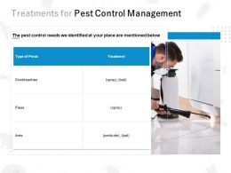 Treatments For Pest Control Management Ppt Powerpoint Presentation File Mockup