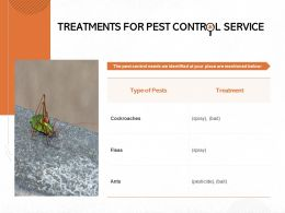 Treatments For Pest Control Service Ppt Powerpoint Presentation Icon File Formats