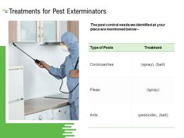 Treatments For Pest Exterminators Ppt Powerpoint Presentation Portfolio Infographic Template