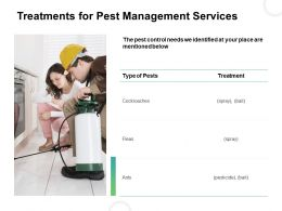 Treatments For Pest Management Services Ppt Powerpoint Presentation