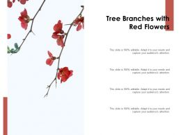 Tree Branches With Red Flowers