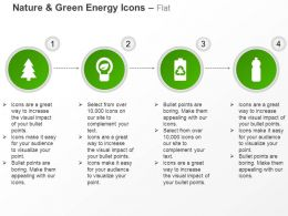 Tree Bulb Cell Bottle Green Energy Ppt Icons Graphics