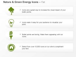 Tree Bulb Cfl Energy Production Use Techniques Ppt Icons Graphics