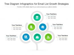 Tree Diagram For Email List Growth Strategies Infographic Template