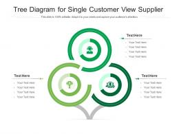 Tree Diagram For Single Customer View Supplier Infographic Template