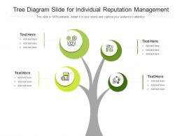 Tree Diagram Slide For Individual Reputation Management Infographic Template