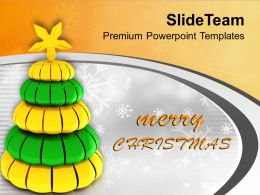 Tree Giving Message Arrival Of Christmas PowerPoint Templates PPT Themes And Graphics
