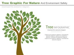 Tree Graphic For Nature And Environment Safety Powerpoint Slides