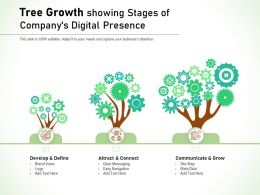 Tree Growth Showing Stages Of Companys Digital Presence