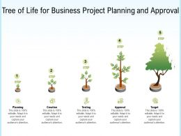 Tree Of Life For Business Project Planning And Approval