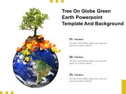 Tree On Globe Green Earth Powerpoint Template And Background