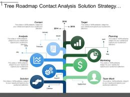 tree_roadmap_contact_analysis_solution_strategy_target_planning_marketing_team_work_timeline_Slide01