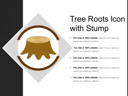 Tree Roots Icon With Stump