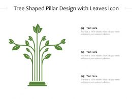 Tree Shaped Pillar Design With Leaves Icon