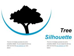 Tree Silhouette Presentation Powerpoint Example