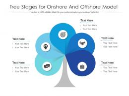 Tree Stages For Onshore And Offshore Model Infographic Template