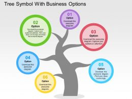 Tree Symbol With Business Options Flat Powerpoint Design