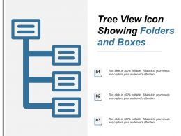 Tree View Icon Showing Folders And Boxes