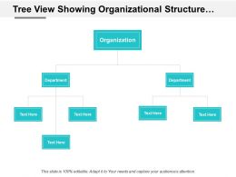 Tree View Showing Organizational Structure Department Wise